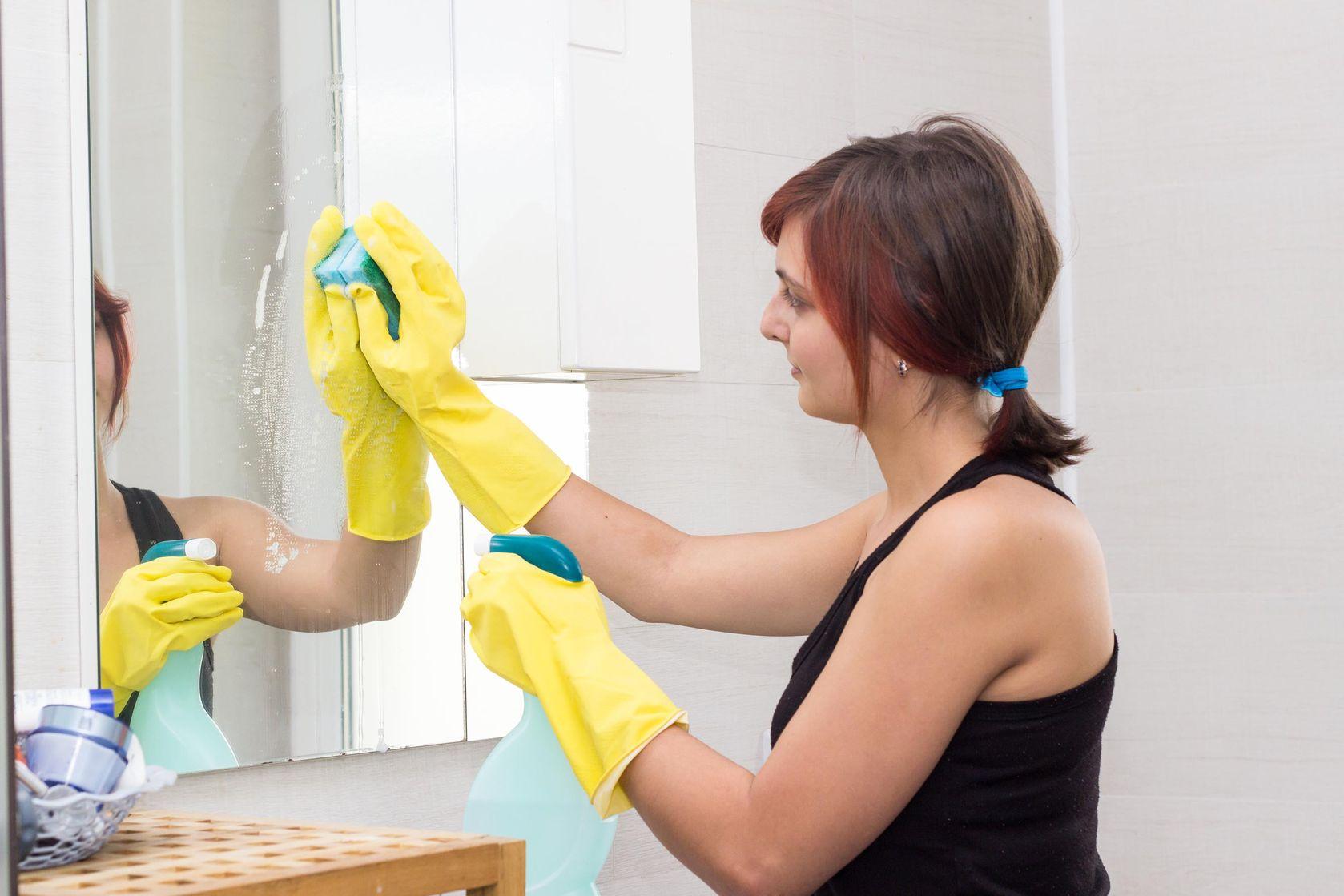 Clean the mirror